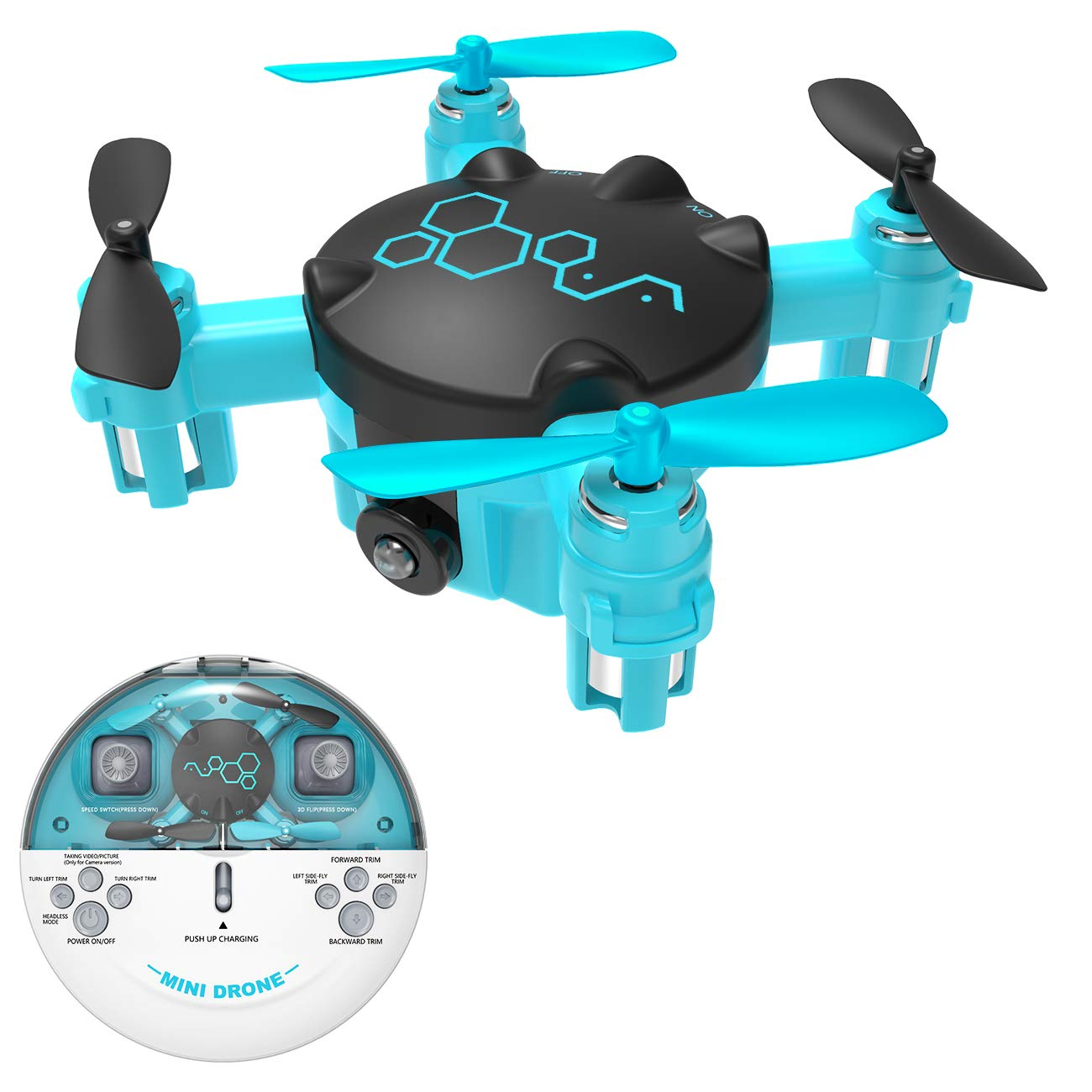 Mini Drone for Kids or Adults, RC Nano Quadcopter with Altitude Hold, One Key Return Home Function, Easy Flying Helicopter Toys for Boys or Girls, Long Flight Time Drone by KOOME