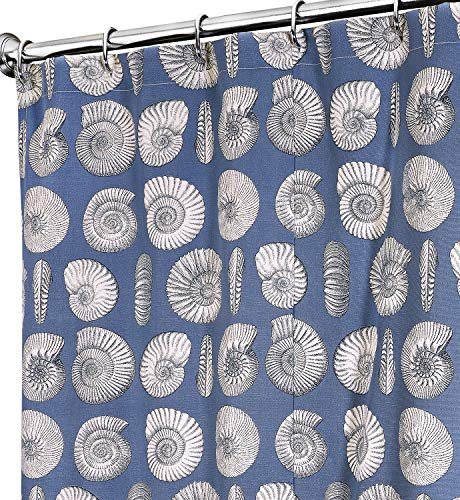 Decorative Things Extra Long Shower Curtain Fabric Shower Curtain Beach Shower Curtains for Bathroom Blue Bath Curtain Luxury Cotton Cloth 84 Inch Kelly Ripa Designer Fabric