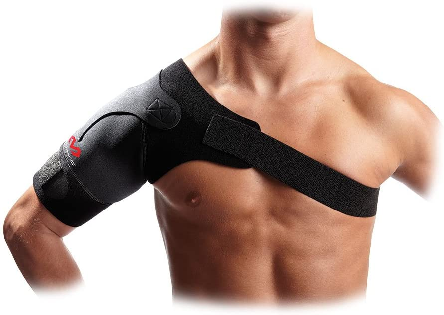 McDavid Shoulder Support Brace. Rotator Cuff Brace for Pain Relief, Rehab. Thermal Compression Therapy Sleeve, Wrap. Adjustable Strap, Sling. For Arthritis, Bursitis, Tendonitis, Arm, AC Joint Injury, Clavicle, Dislocated. For Men and Women, Right or Left Side