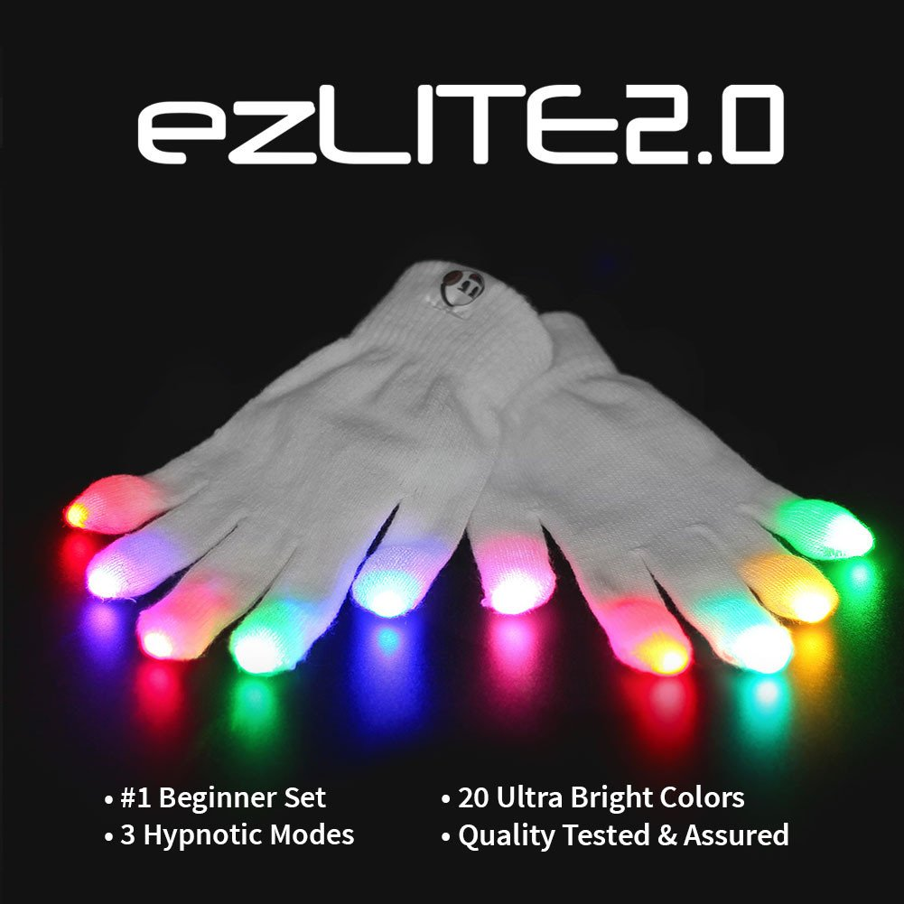 EmazingLights Elite ezLite 2.0 Light Up LED Gloves - #1 Leader in Gloving & Light Shows by EmazingLights (Image #1)