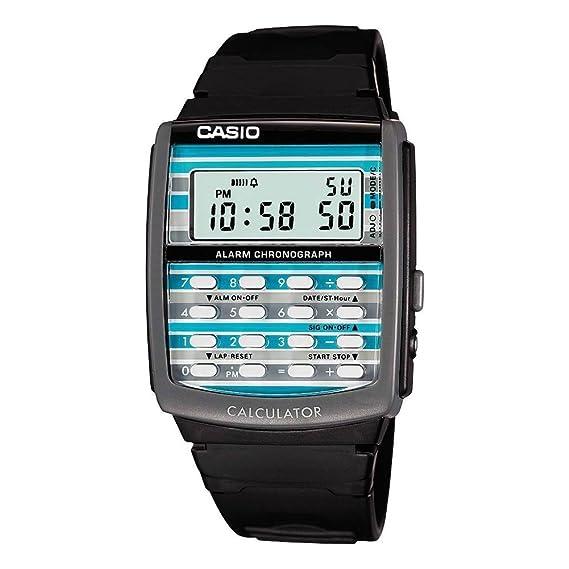 CASIO Collection LDF-40-1AER - Reloj de cuarzo con correa de resina para mujer (con cronómetro, alarma), color negro: Amazon.es: Relojes