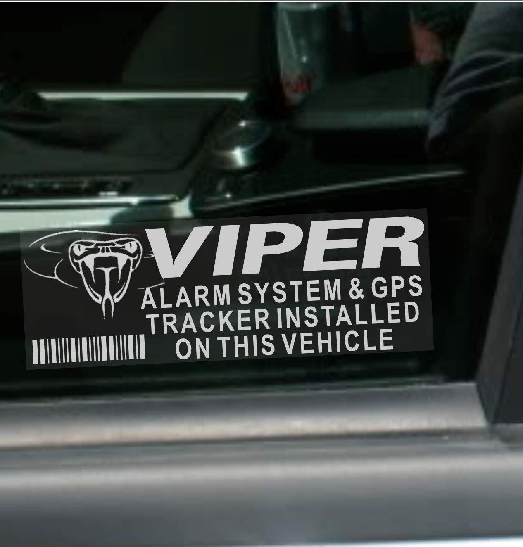 87 x 30 mm Lote de 5 pegatinas de alarma Viper y GPS rastreador seguridad para ventana