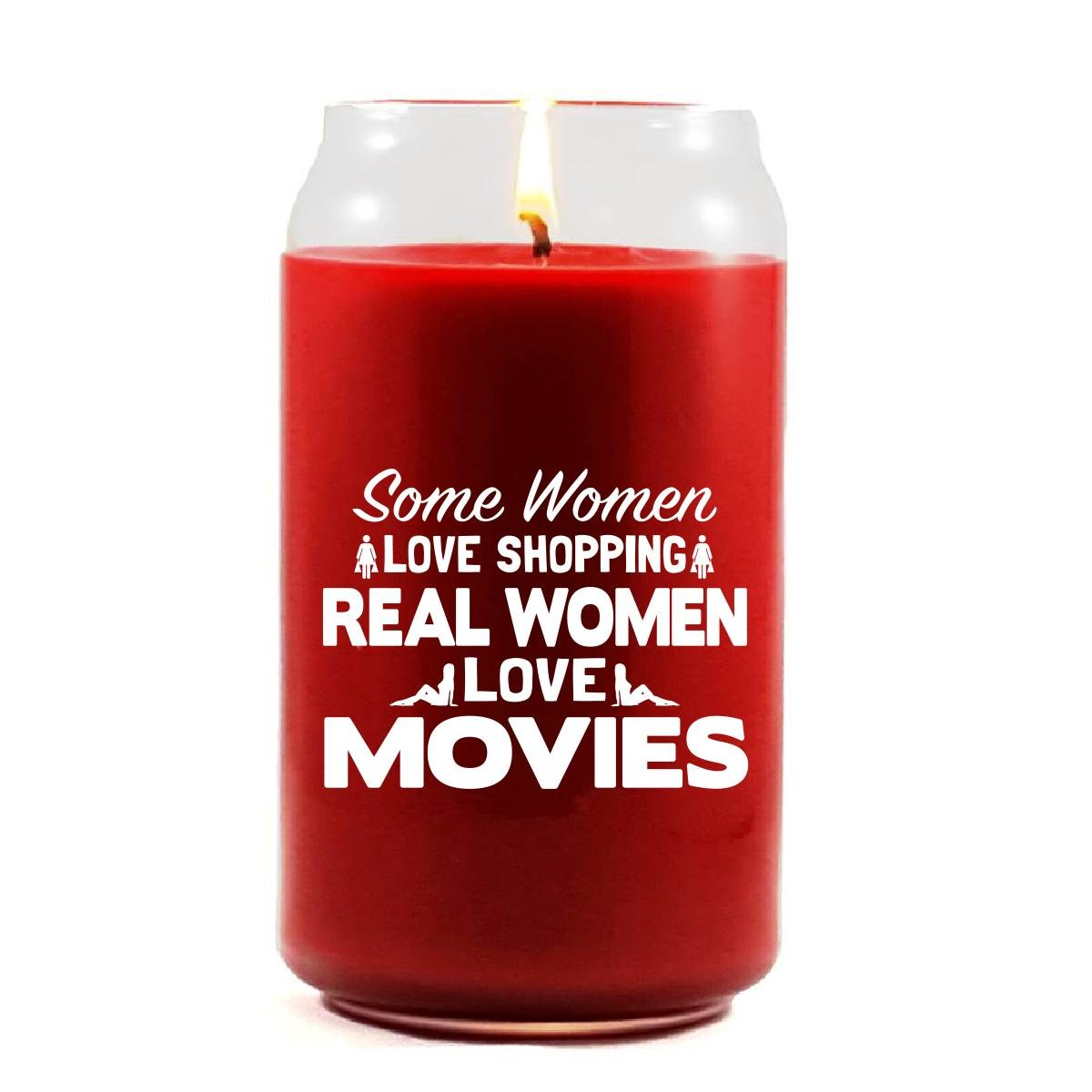 Some Women Love Shopping Real Women Love MOVIES - Scented Candle