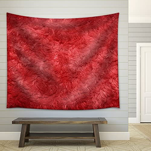 Red Hairy Polyester Texture Background Fabric Wall