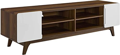 "Modway Tread 70"" Mid-Century Modern Media Console Entertainment TV Stand"
