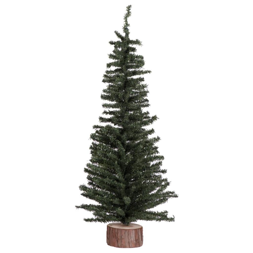 Amazon.com: Vickerman Mini Pine Tree with Wood Base Green Tabletop ...