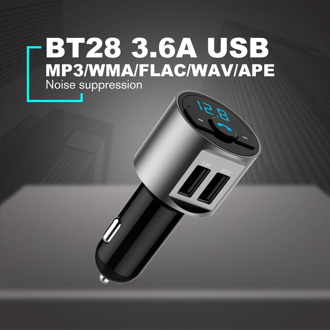 BT28 3.6A Chargeur USB Kit De Voiture Bluetooth Transmetteur FM Modulateur Audio Musique Voiture Mp3 Lecteur T/él/éphone Sans Fil Mains Libres Carkit