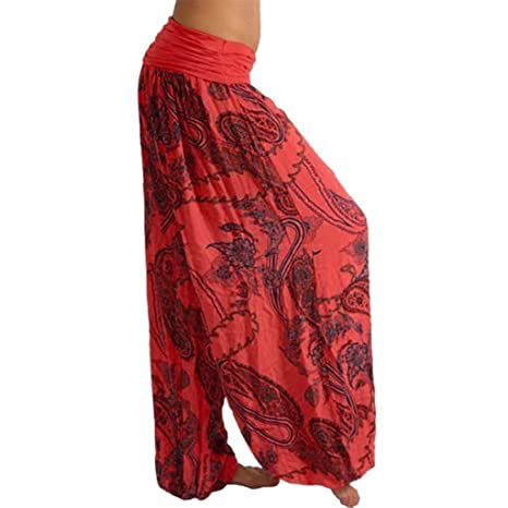Luckycat Pantalones De Harén India Danza Pantalones De Yoga ...