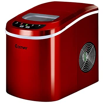 costway portable compact electric ice maker machine counter top mini cube 26lb of ice daily