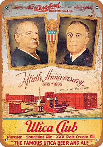 Wall-Color 9 x 12 Metal Sign - 1938 Utica Club Beer - Vintage Look