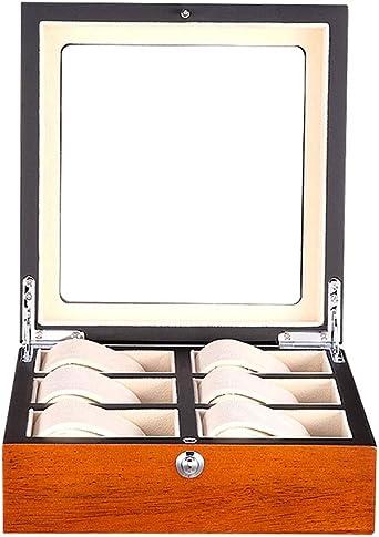 6 Grid Caja De Relojes Organizador De Relojes, Retro Madera Estuche para Relojes Y Joyeros, Multi Epitope Reloj Caja De Almacenamiento (Color : C): Amazon.es: Relojes