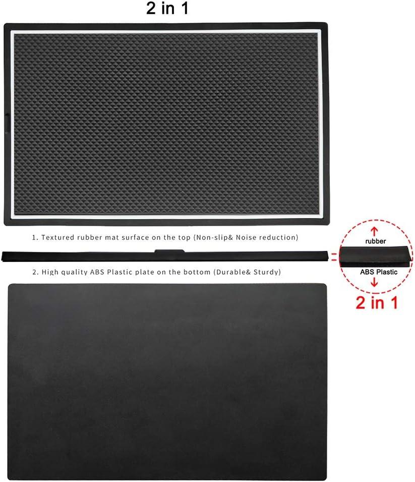 White Intget Secret Compartment Cover Plate Center Console Organizer Tray for 2014-2018 GMC Sierra 1500 2500HD 3500HD Denali Chevrolet Chevy Silverado