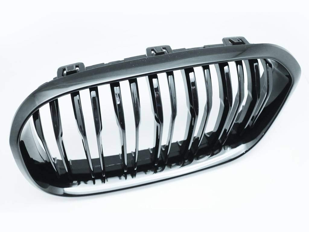 CarLab 2 Gloss Black Front Dual Fin Grill Grille for 2015-up F20 116i 118i 120i 125i