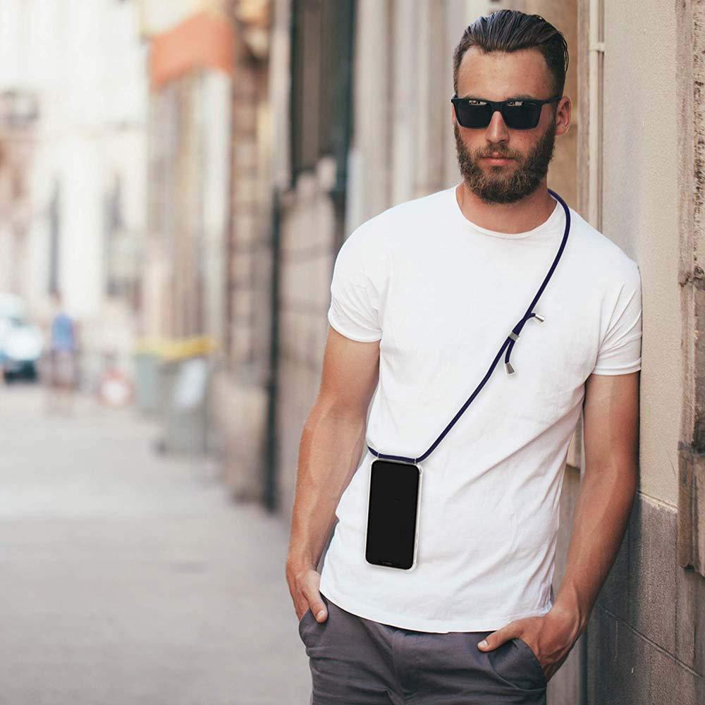 Moda y Practico Negro Suave Silicona Transparente TPU Carcasa de movil con Colgante//Cadena YuhooTech Funda con Cuerda para Xiaomi Redmi Note 5 Pro, Anti-rasgu/ños Anti-Choque