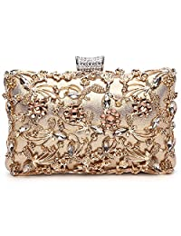 Labair Womens Crystal Evening Clutch Bag Wedding Purse Bridal Prom Handbag Party Bag.