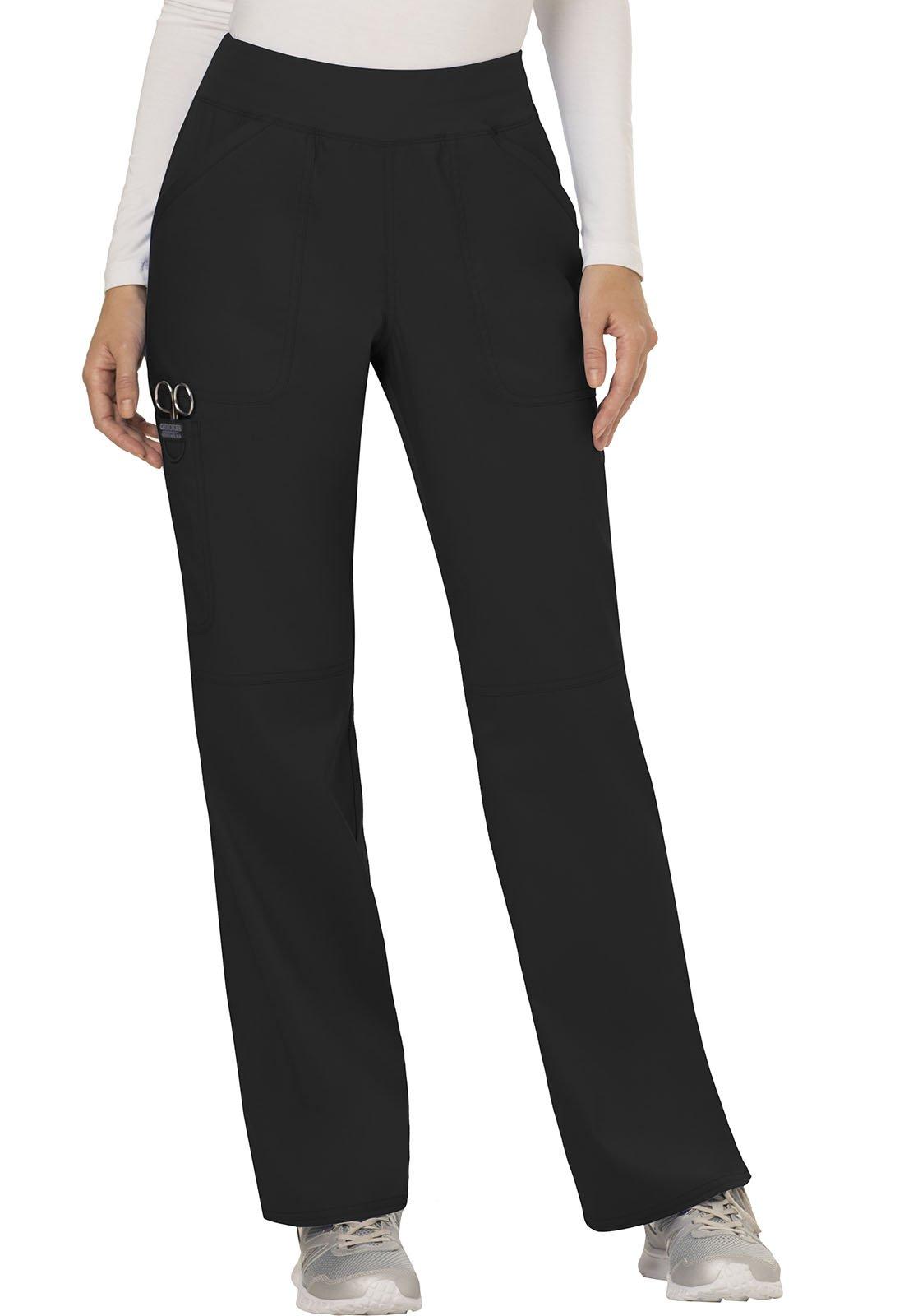 WW Revolution by Cherokee Women's Mid Rise Straight Leg Pull-on Pant, Black, 3XL