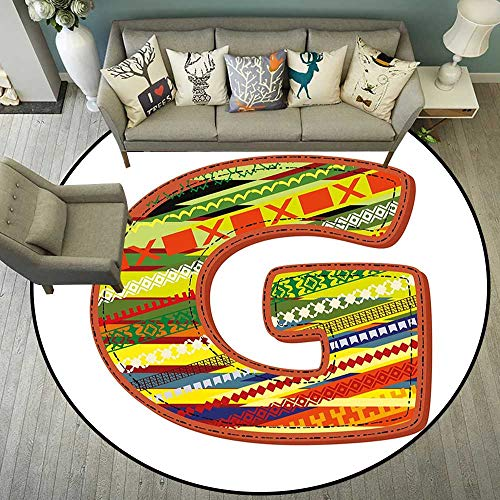 (Circularity Floor mat Office Chair Round Indoor Floor mat Entrance Circle Floor mat for Office Chair Wood Floor Circle Floor mat Office Round mat for Living Room Pattern 4'11