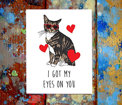 (2 Pack) Cat Heart & Star Sunglasses Happy Valentine's Day Love Greeting Cards (4.25x5.5 - Inside Sunglasses Meme