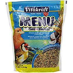 Vitakraft Menu Vitamin Fortified Canary & Finch Food, 2.5 Lb.