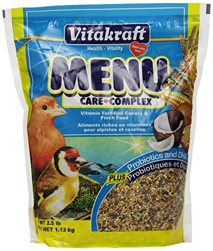 Vitakraft Menu Vitamin Fortified Canary & Finch Food, 2.5 Lb. -
