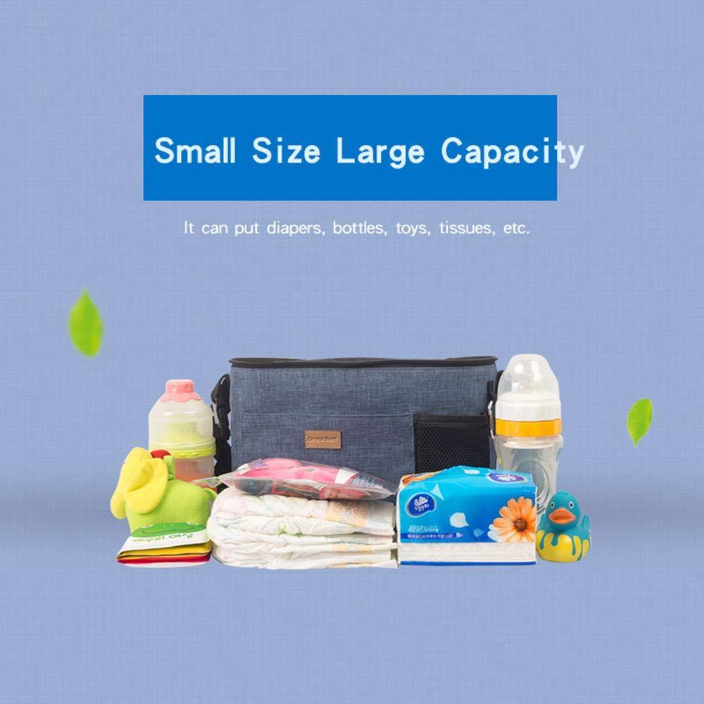 Stauraum f/ür Baby-Zubeh/ör FOONEE Kinderwagen-Organizer universeller Baby-Jogger-Organizer Tasche mit verstellbarem Schultergurt