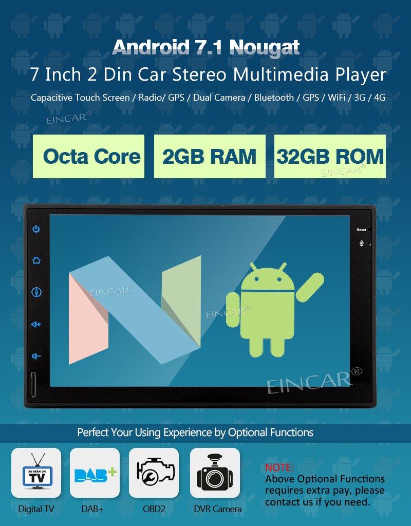 Amazon.com: EinCar 7 inch Android 5.1.1 Quad Core Lollipop Car ...