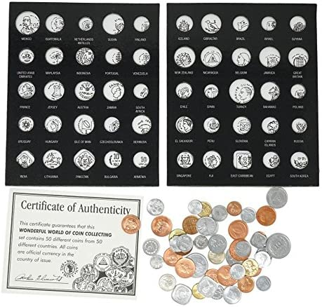 50 World Coins from 50 Countries
