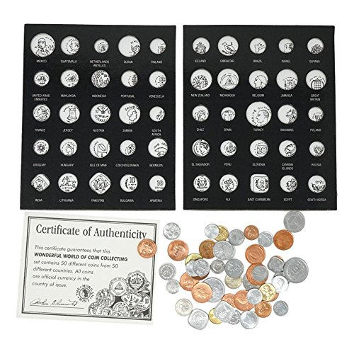Album 50 Coin - Coin Display Book, 50 Coins from 50 Countries, Wonderful World of Coin Collecting