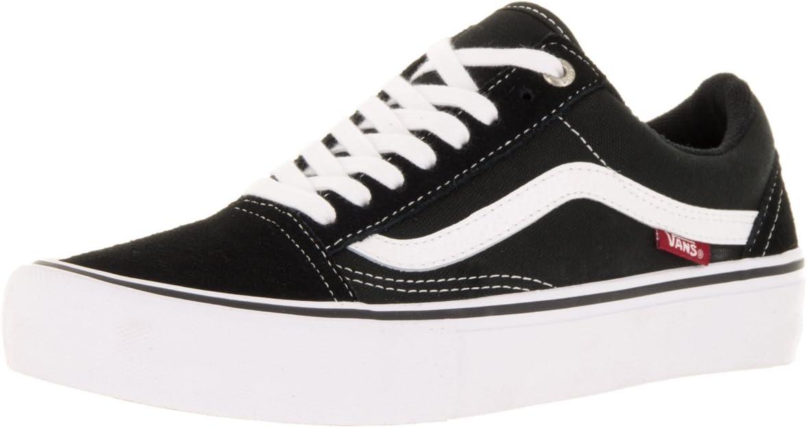 Vans Old Skool Pro zwart/wit/medium gom schoen V00ZD4BW9 Zwart Wit