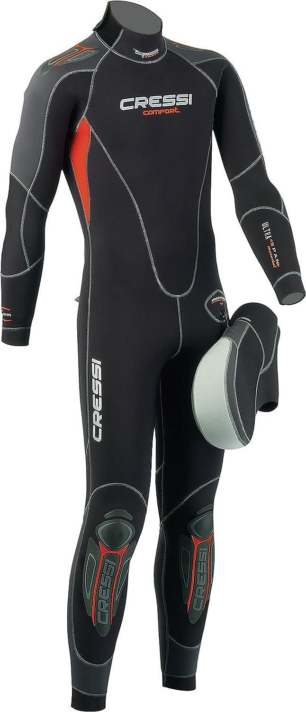 Cressi Comfort Plus - Traje de buceo, color negro, 50/S: Amazon.es ...