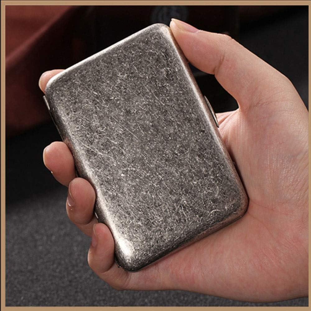 alta qualit/à Good mood 16 bacchette di rame puro portasigarette good metallo antico dargento retro scatola di sigarette personalit/à creativa maschio portatile portasigarette YXHUI Portasigarette