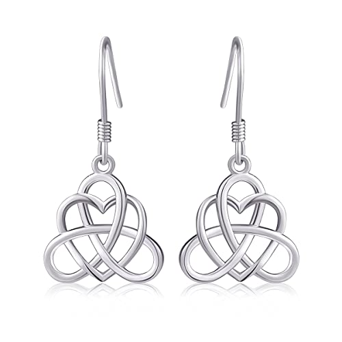 c998a0fd965e Amazon.com  925 Sterling Silver Good Luck Vintage Irish Celtic Triquetra  Knot Heart Pendant Necklace and Earrings Jewelry Set  Jewelry