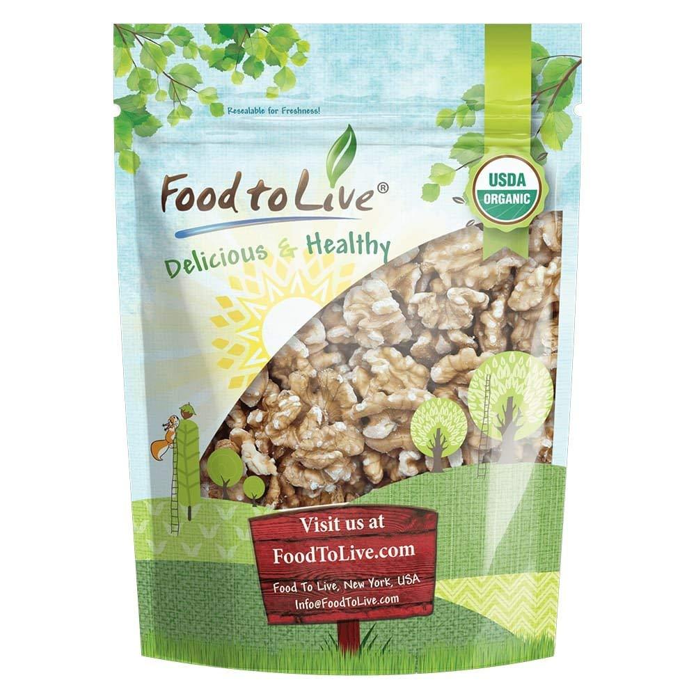 Organic Walnuts, 2.5 Pounds - Non-GMO, Kosher, No Shell, Sirtfood, Bulk