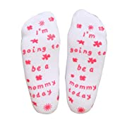 Ocosy Labor Delivery Non Skid Push Socks Fun Push Socks for Maternity (I am Going to be a Mommy Today)