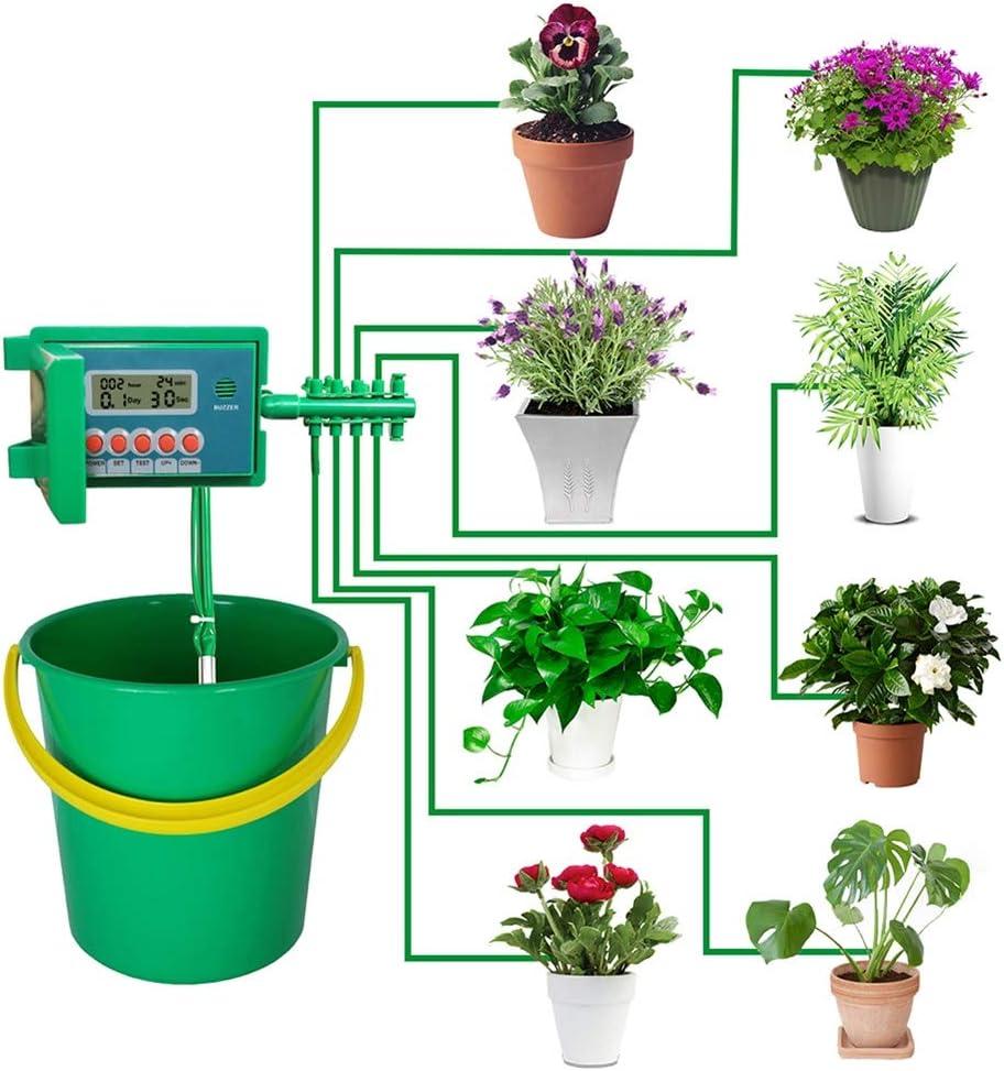 WKZWY-furniture cover Kits automáticos de riego por riego por Goteo Micro casero, de rociadores con Controlador Inteligente (Color : Green)
