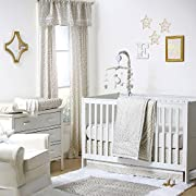 Gold Dot and Chevron Zig Zag 4 Piece Baby Crib Bedding Set by The Peanut Shell
