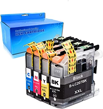 4Pk BROTHER LC 203 XL High Yield Genuine Ink MFC-J4320DW MFC-J4420DW MFC-J4620DW