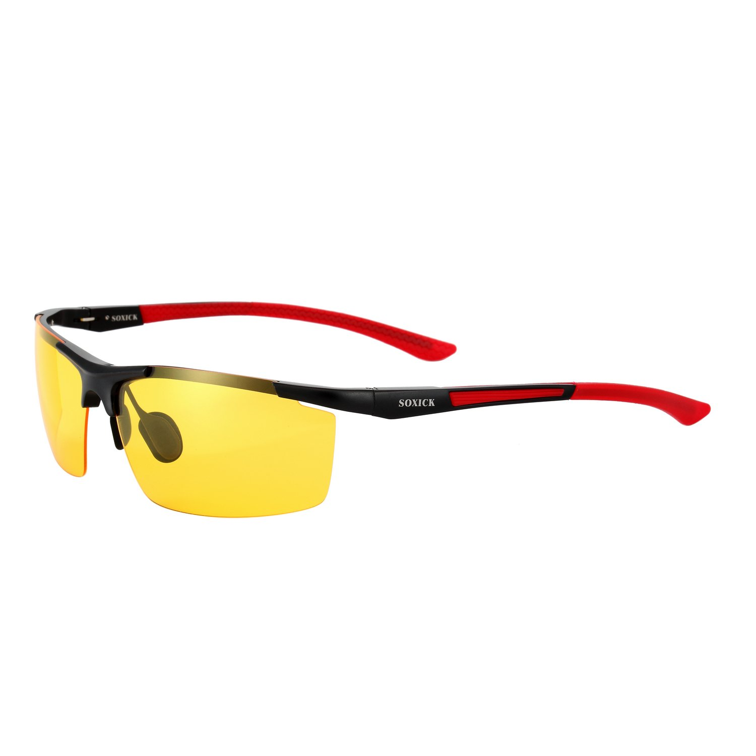 a9a3c85ed7 Night Vision Glasses for Driving Night Driving Glasses for Man Women Anti  Glare Improve Driving Safety (red) at Amazon Men s Clothing store