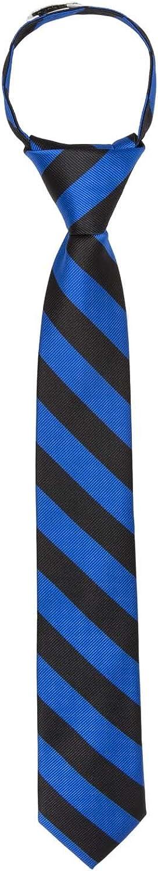 Jacob Alexander Stripe Woven Boys 14 College Striped Zipper Tie