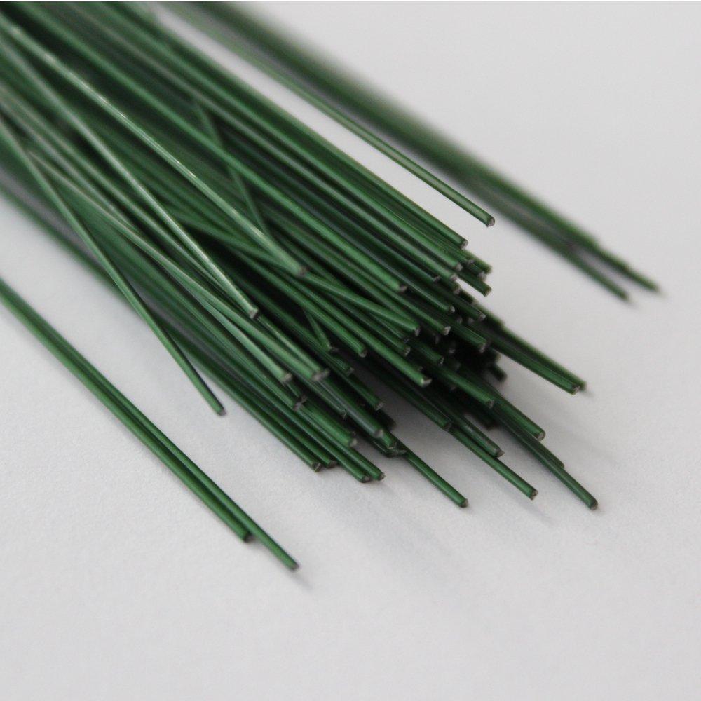 BIG-SAM - 100 Stück Bindedraht - Steckdraht in Grün | verschiedenen Größen ud Verpackungseinheiten (100, 0,7 & 0,8mm | 40cm) *