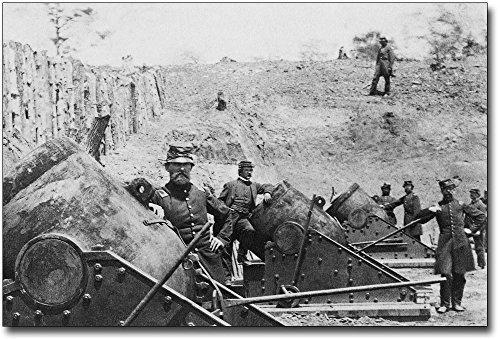 Civil War Mortars in Yorktown, New York 12x18 Silver Halide Photo Print