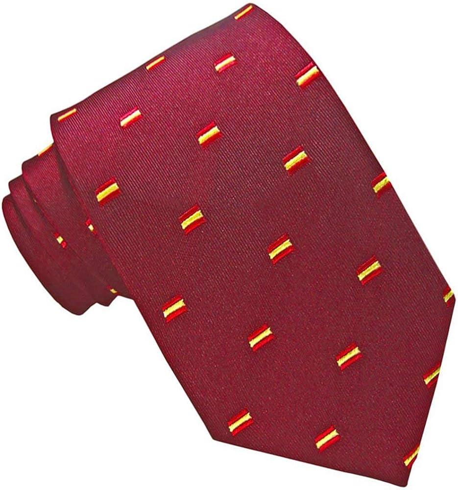 JOSVIL Corbatas de España con la bandera de españa. Corbata Seda Granate. Corbata de seda para hombre elegante y de gran calidad.: Amazon.es: Ropa y accesorios