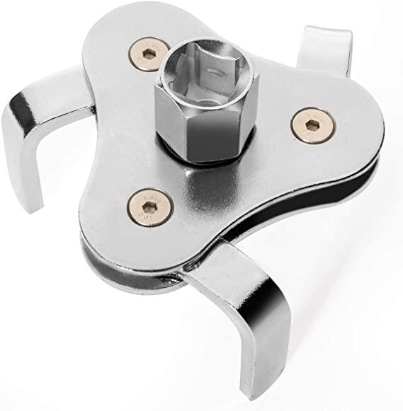 Holoras Adjustable Oil Filter Wrench 3 Jaw Oil Filter Removal Tool Range 2-1//2 inch to 4.3 inch