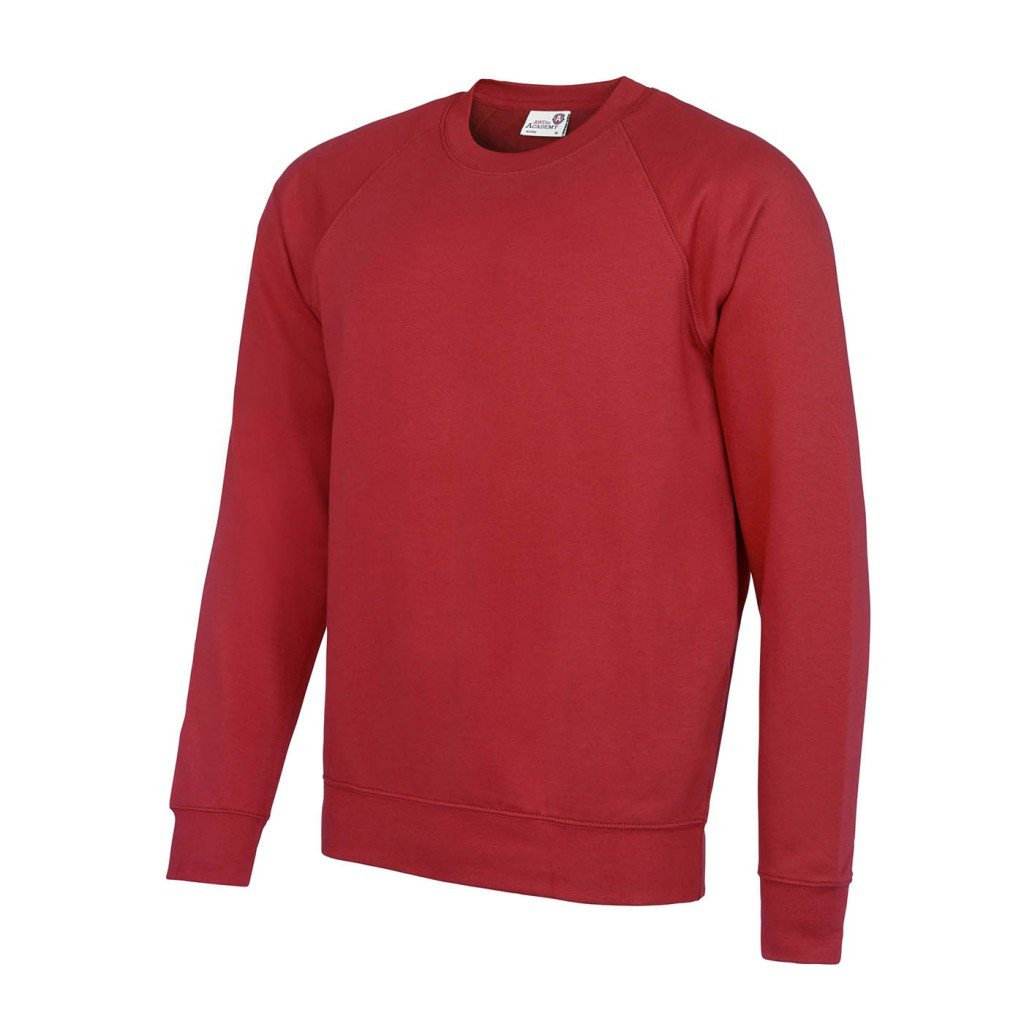 Awdis Academy Childrens/Kids Crew Neck Raglan School Sweatshirt (S) (Red)