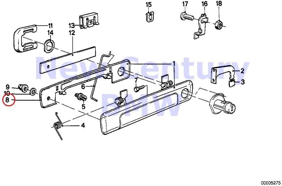 BMW Genuine Locking System Door Front Handle Padding Left 733i 735i 630CSi 633CSi 635CSi M6