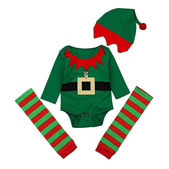 Mibuy Ropa Bebe Navidad, 4 Pcs Conjunto Mono Bodies Tops Camiseta+ ...