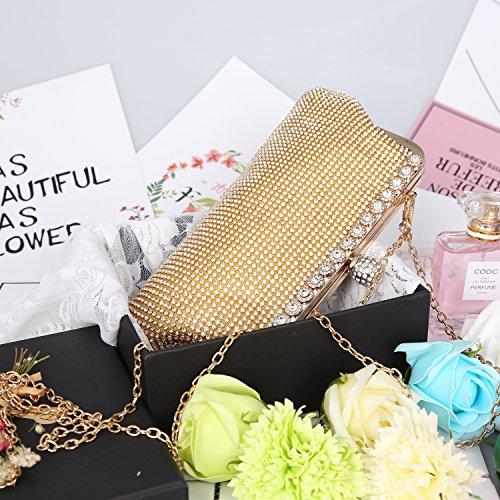 Design Women Rhinestone Clutch Handbags Beaded Evening Bag Gold Crystal Fashion Sequin Purse fwnqB1