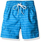Kanu Surf Boys' Line Up Stripe Quick Dry Beach Board Shorts Swim Trunk
