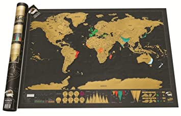 Amazon scratch off world map poster set langshop 2018 best scratch off world map poster set langshop 2018 best gift for travelers gumiabroncs Images