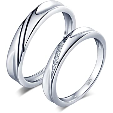 Bishilin Stainless Steel Cubic Zirconia 2MM Wedding Ring Eternity Band for Her Silver Size 5